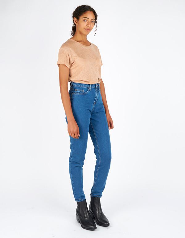 Filippa K Linen T-Shirt Almondine