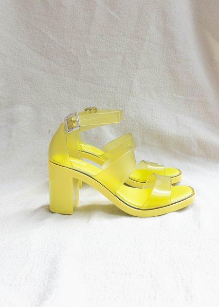 Melissa Model Ad Sandals - Neon Yellow