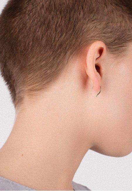 Merewif Small Hook Poke Earrings - 10K Gold