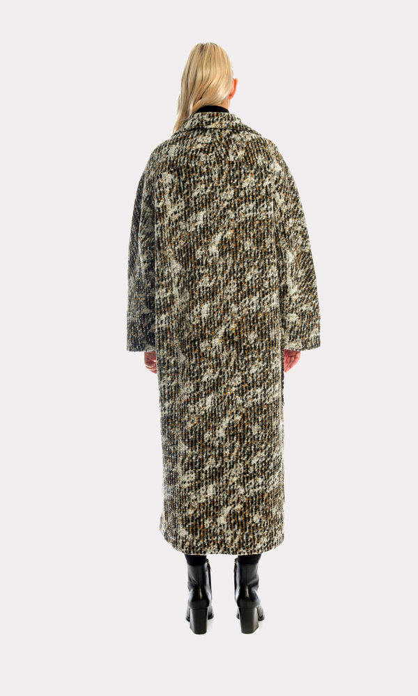 Kurt Lyle Bangsy Sweater Coat in Gravel
