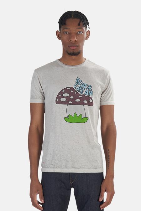 Blue&Cream x Kinetix Mushroom Graphic T-Shirt - Stone