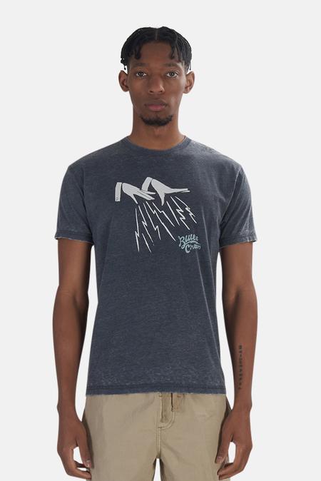 Blue&Cream x Kinetix Lighting Hands Graphic T-Shirt - Charcoal