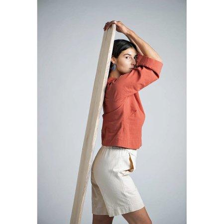 Herself Clothing Bridget Organic Cotton Denim Short - Natural
