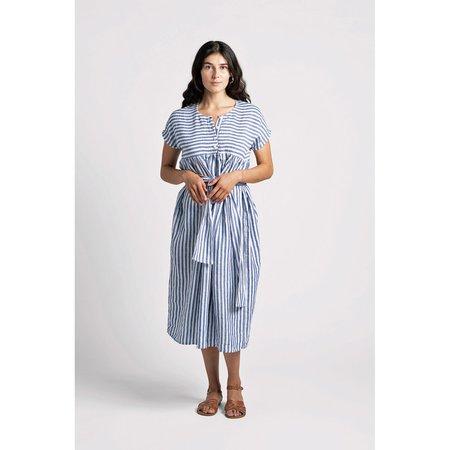 Herself Clothing Ondine Dress - Linen Stripe