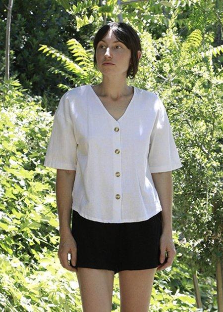 Me & Arrow V Neck Shirt - White