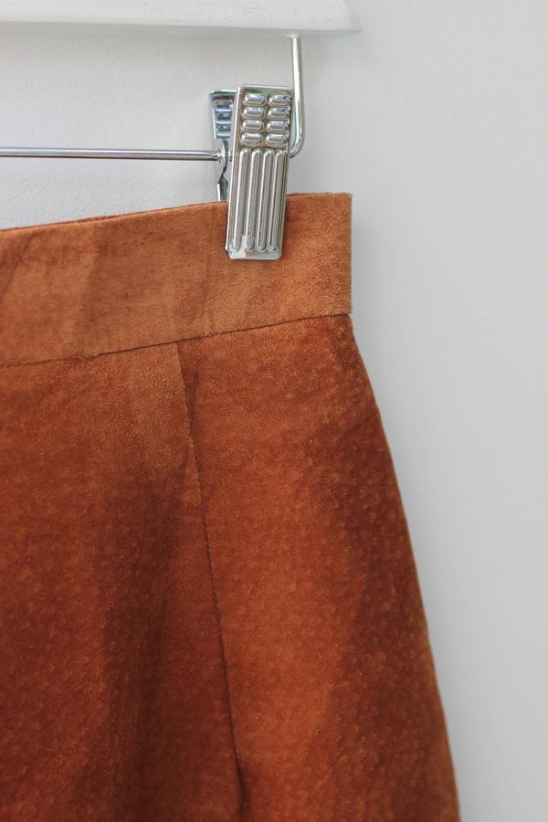 Hey Jude Vintage Rust Suede Skirt