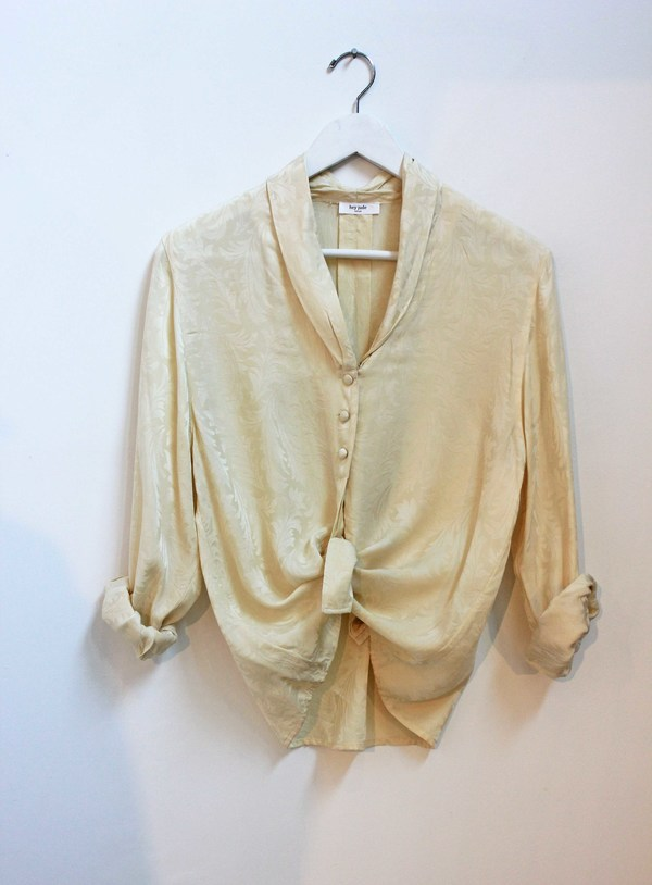 Hey Jude Vintage Brushed Silk Blouse
