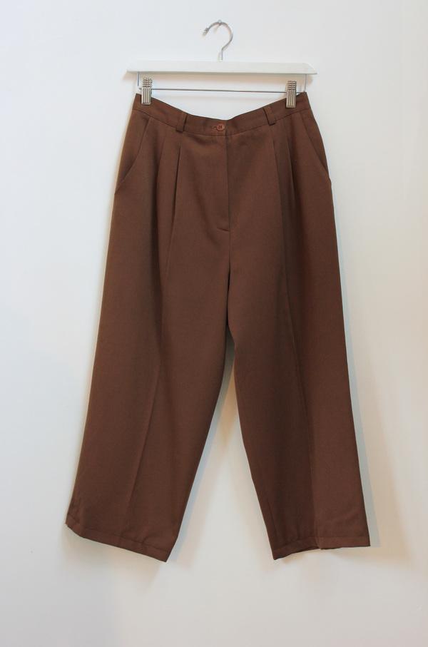 Hey Jude Vintage Wool Cropped Trousers