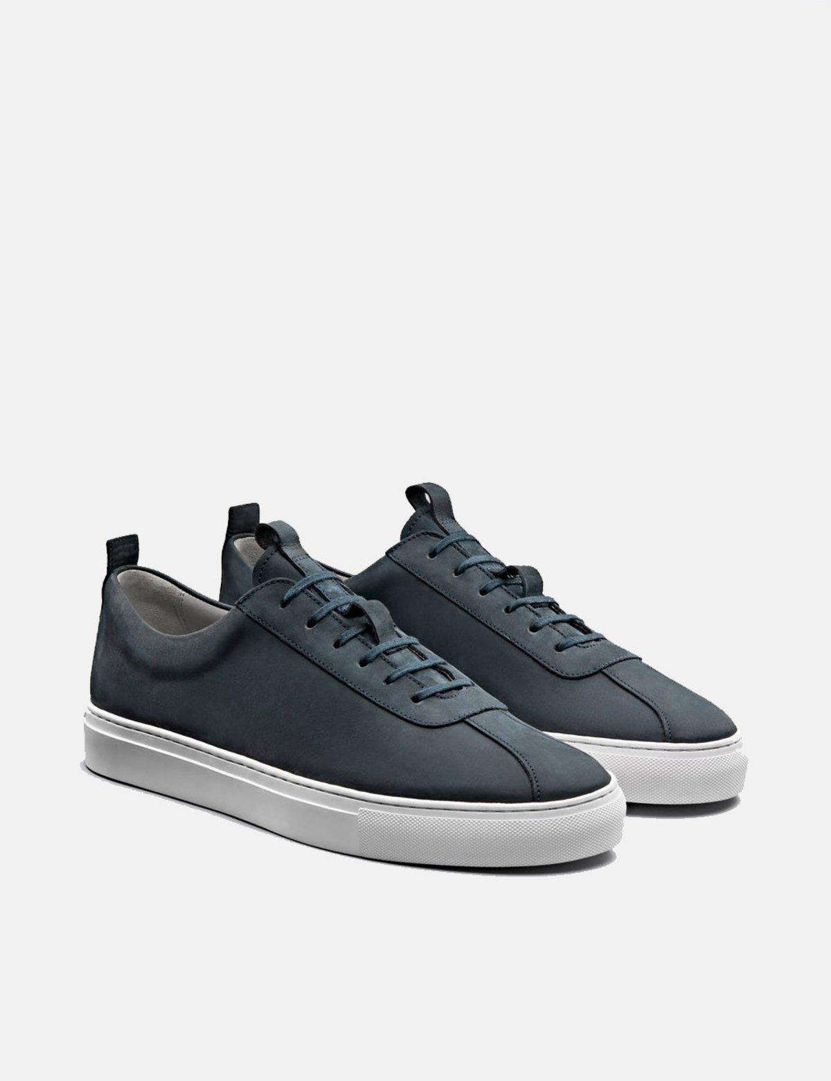 Grenson 1 Nubuck Sneakers - Navy Blue