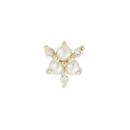 Jennie Kwon Designs Pearl Diamond Snowflake - 14k Yellow Gold