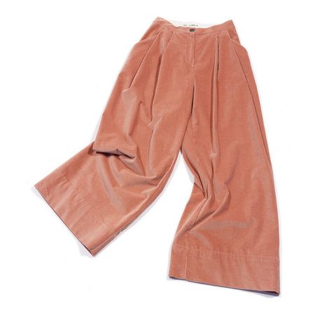 Mr. Larkin Babe Wide Cord Pant - Dusty Pink
