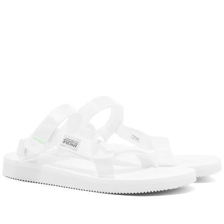 SUICOKE DEPA-Cab Sandals - White