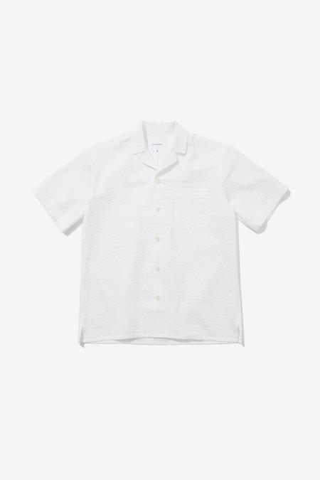 SENTIBONES SEERSUCKER HALF SLEEVES SHIRTS - White