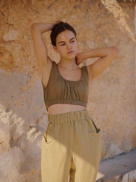 Ozma Sophie Crop - Olive
