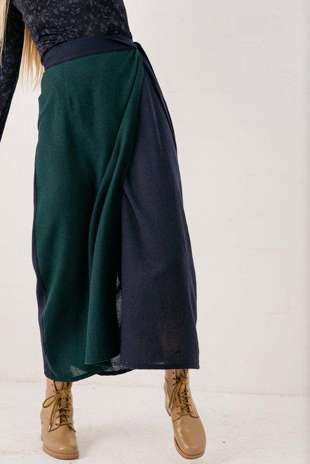 FME Apparel Duet Wrap Skirt - Forrest Green/Navy