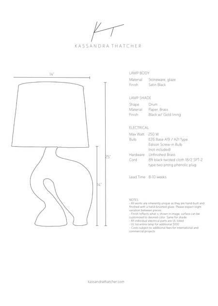 Kassandra Thatcher Equus Lamp