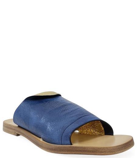 Madison Maison By Silvano Sassetti Leather Sandal - Blue