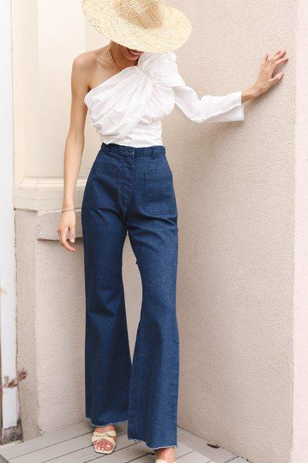 Vintage 70s Wide Leg Sailor Style Denim