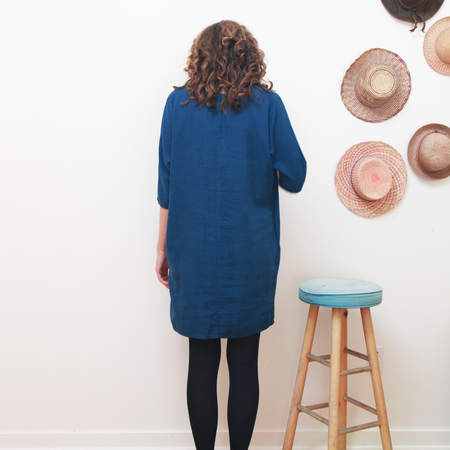 Me & Arrow Dolman 3/4 Sleeve Dress Deep Ocean