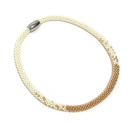 Jill Cribbin Stardust Necklace - Cream/Rose Gold