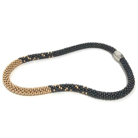 Jill Cribbin Stardust Necklace - Grey/Rose Gold