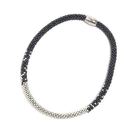 Jill Cribbin Stardust Necklace - Grey/Sterling Silver