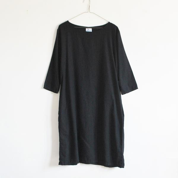 Me & Arrow 3/4 Sleeve Tall Dress - Black