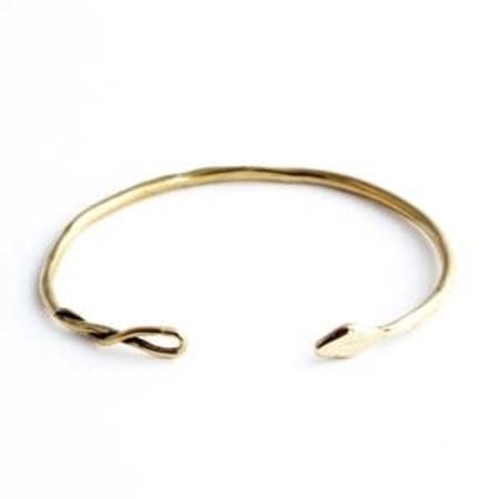 Marisa Mason Snake Cuff - Brass