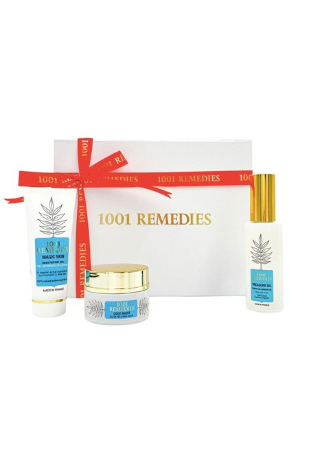 1001 Remedies Mum Gift Set with Acne Spot Cream, Sleep Sid & Argan Oil for Healthy Hair