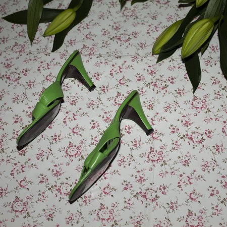 Vintage Kintsugi Sandals - Green