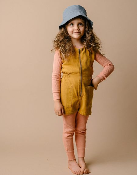 Kids Noble Organic Tank Suit - Turmeric