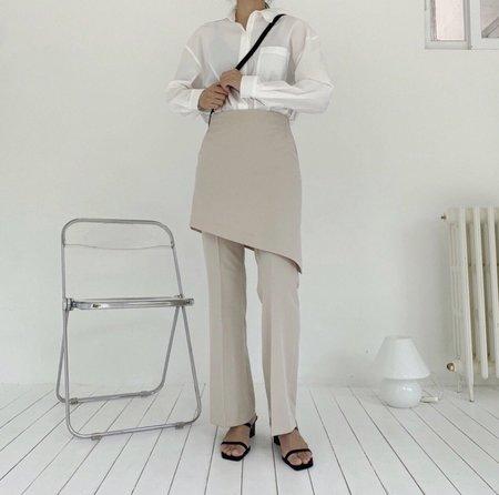 Avecnous Oblique Skirt Pants