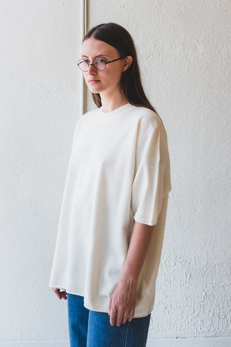 Factory Wide Half Sleeve Knit - White