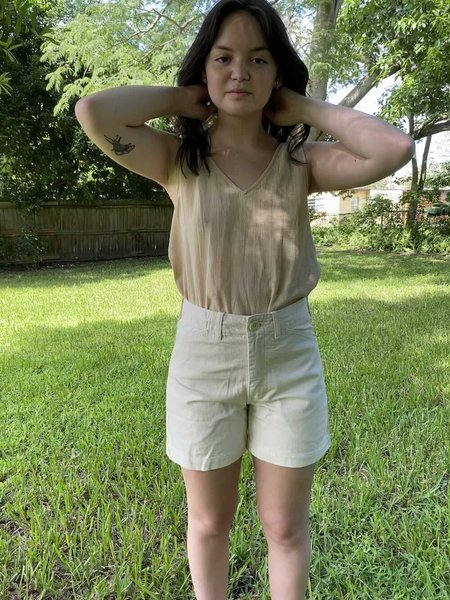 Vintage Gravel and Gold Shorts - Natural