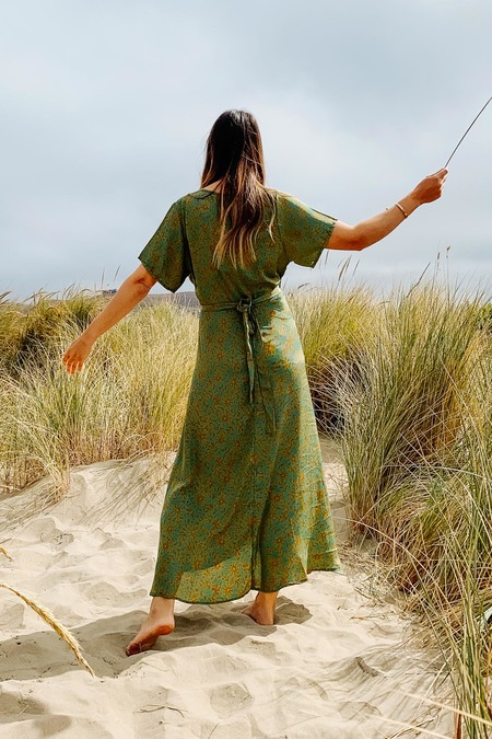 Karma Highway Vivian Wrap Dress - Seaweed