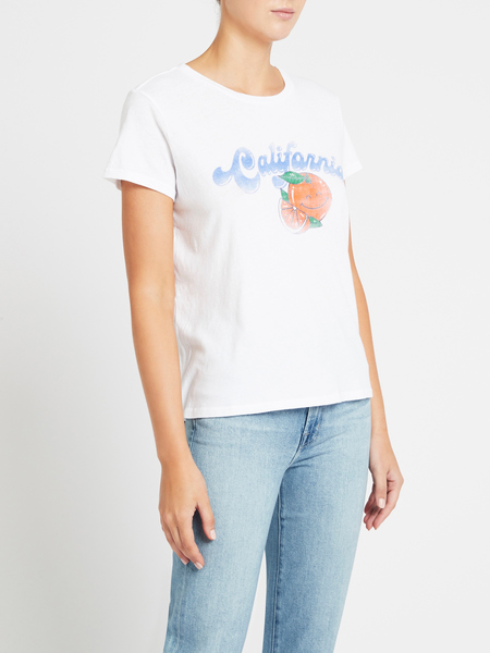 Mother Denim The Boxy Goodie Goodie Tee - California Oranges