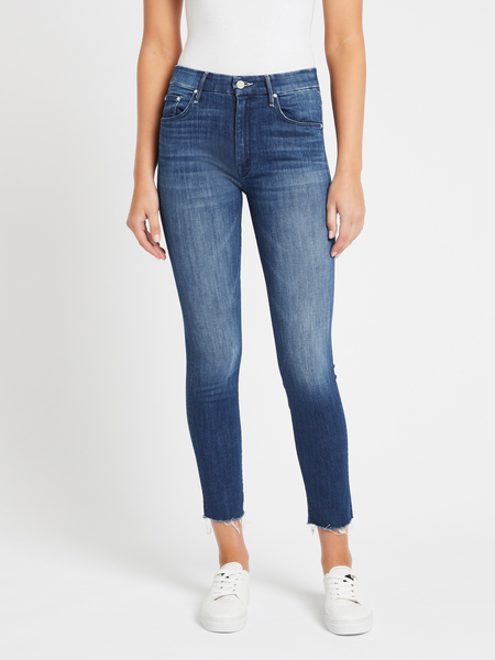Mother Denim The Looker Ankle Fray Jeans - Squeeze It
