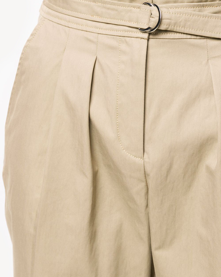 A.P.C. High-Waisted Cropped Trousers - Tan Beige