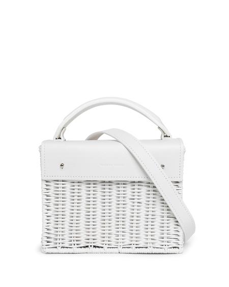 Wicker Wings Kuai Wicker Handbag - White