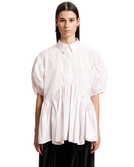 Cecilie Bahnsen Blouse with Puffed Sleeves - Pink