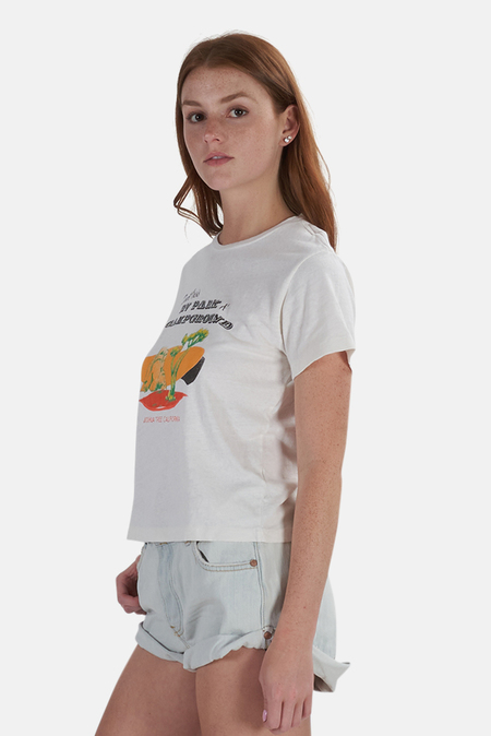 Re/Done Desert Oasis Classic T-Shirt - Vintage White