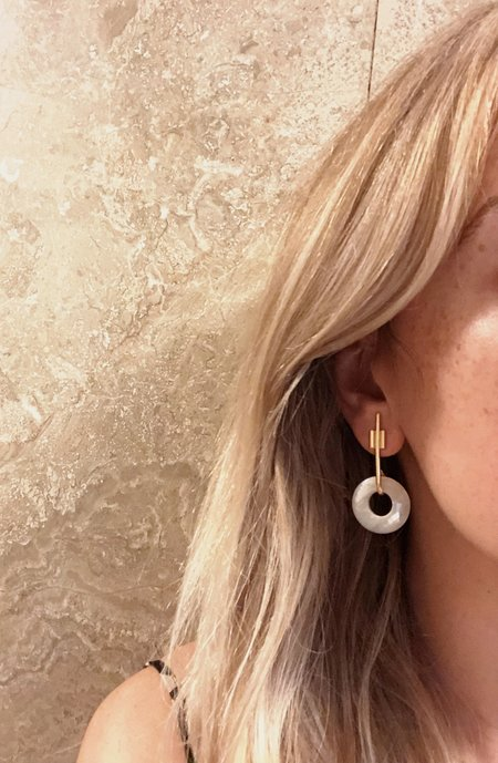 Mercurial NYC Mother of Pearl Intersect Earrings