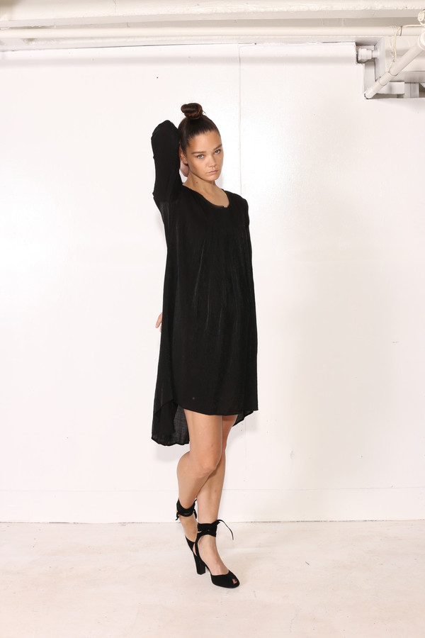 Intentionally Blank CINN BABYDOLL DRESS Black