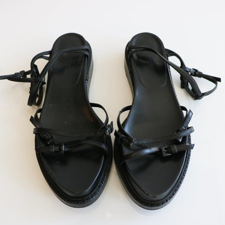 [pre-loved] Ann Demeulemeester Leather Sandals - Black