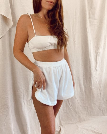 Terry Towelling cruise short - bianco