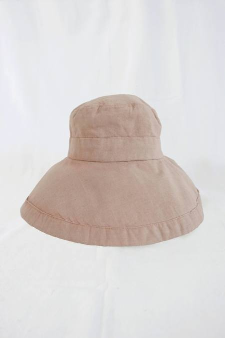 Genna Shrosbree Sun Hat - Naturally-Dyed Dusty Pink