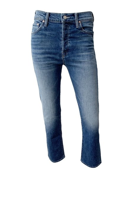 Mother Denim Scrapper Ankle Jeans - Cowboys Don't Cry