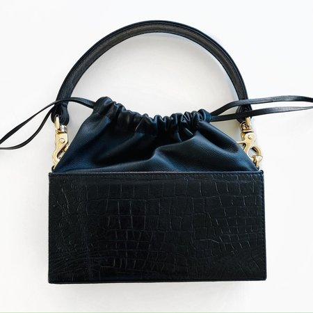 altaire Baguette Box - Black Embossed Croc