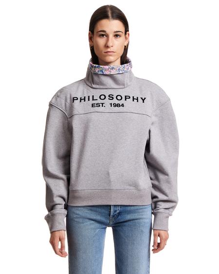 Philosophy by Lorenzo Serafini Wildflowers Sweatshirt - Gray