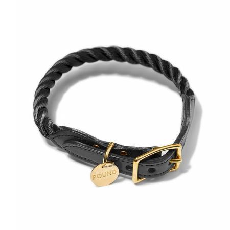 Found My Animal Rope Dog Collar - Black